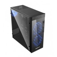(Termurah) Casing PC CPU SEGOTEP SG-K6 - Full Side Window - 1x Blue Fan - USB 3.0