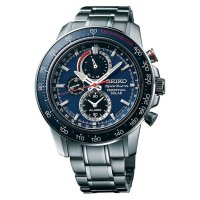 [High Quality] Seiko Sportura SSC355P1 Perpetual Solar Chronograph Stainless Steel Br