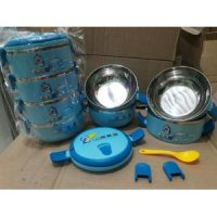 Rantang Stainless Karakter Doraemon 4 Susun ( Lunch Box )
