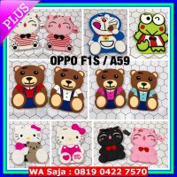(Casing & Cover) Softcase rubber boneka stitch hello kitty Oppo A59 F1S case A37