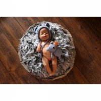 Karpet bulu foto bayi / Baby backdrop soft quilt photog