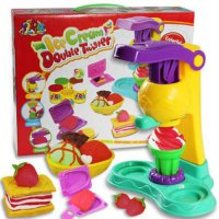 [globalbuy] Multi-Colored Play Doh 3D Creative Ice Cream Polymer Clay Plasticine Mold Tool/2174165