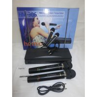 Homic Microphone Mic Double Wireless HM 306