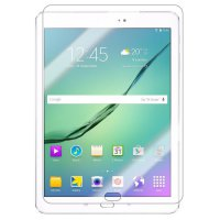 TEMPERED GLASS Samsung Galaxy Tab S2 9.7 T810 FLIP SOFT BOOK BACK CASE