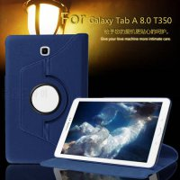 [globalbuy] For Samsung Galaxy Tab A 8.0 T350 T351 T355 Case 360 Rotatable PU Leather Case/5357754