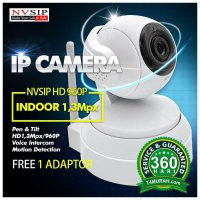 NVSIP indoor Wireless Portable IP camera CCTV HD 1.3MP Baby Monitoring