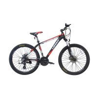 Viva Cycle L3111 Levanti 860 Alloy MTB Shimano 24sp Sepeda - Black [26 Inch]
