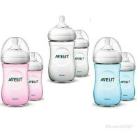 Botol avent natural 2.0 new design 260ml twin biru pink