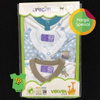 Velvet Sleepsuit Dream Wear Boy 0-3 Bulan