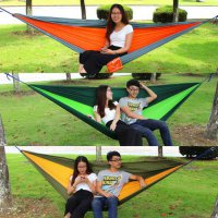[globalbuy] 2.6*1.4M Outdoor Home Garden Tree Swing Hammock Bed Sleeping for 2 Person New /3224227