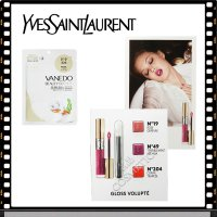 Yves Saint Laurent Gloss Pearl Pack 1 sheet + see riptte Tinted Gloss trial (presentation) / riptinteu / polish / lipstick / maejikpen / Foundation