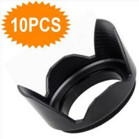 [globalbuy] 10pcs Hot New Screw Mount 55mm Lens Hood Flower Crown Petal Shape of camera ki/3076583