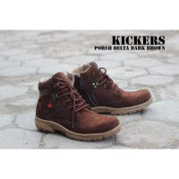 Terbaru Sepatu Kickers Boots Safety Porsh Delta Dark Brown SPYMR:007022