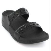 Fitflop Biker Chic Sandal Wedges - Black