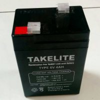 Battery Aki 6V 4A ACCU kering