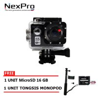 NexPro Action Camera Dream 001 (4K) 20MP WiFi Paket Komplit