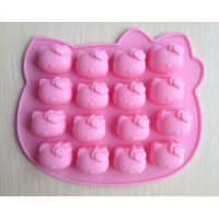 Cetakan kitty coklat es puding jelly hello kitty mold