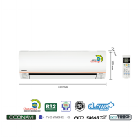 PROMO AC PANASONIC 1/2 PK LOW WATT ECONAVI CS-XN5SKJ (FREON R32, 320 W)