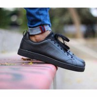 Adidas Neo Advantage Full Black Sneakers Fashion Pria Dan Wanita