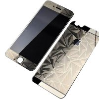 Tempered Glass Screen Protector 3D Color Bling Diamond for Apple iPhone 4 5 6 6+ | depan belakang