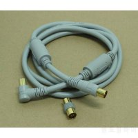 [globalbuy] PREMIUM 1.5M Metre Male to Male RF TV Aerial gold Lead Antenna Cable Coaxial E/4966629