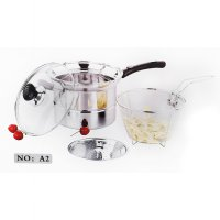 Vavinci Multi Pot 22 cm / Steamer & Fryer 2 IN 1 / Panci Multi Fungsi