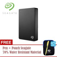 (Promo) Seagate Backup Plus Portable 4TB/USB3.0/2.5' - Hitam + Pouch + Pen