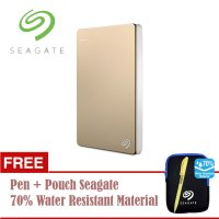 (Termurah) Seagate Backup Plus Slim 1TB/2.5'/USB3.0 - Gold + Free Pouch + Pen