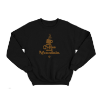 Sweater COFFEE AND MOUNTAIN (SW-COF) - Hitam, M