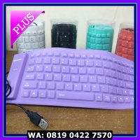 (Murah) KEYBOARD FLEXIBLE USB KEYBOARD USB FLEXIBLE KEYBOARD LAPTOP
