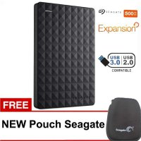 (Termurah) Seagate Expansion New 500GB 2.5' Harddisk Eksternal - Hitam Free Pouch