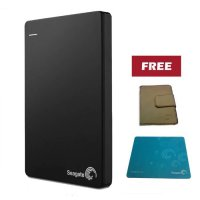 (Termurah) Seagate Backup Plus Slim 1TB - Black + Pouch dan Mouse Pad