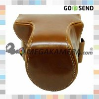 #Tas & Casing Kamera Maeistro Leather Case / Full Case Light Brown for Fujifilm XA3 / XA10