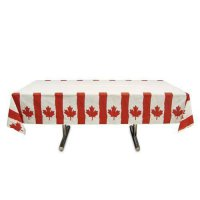 [poledit] Amscan Waving Canadian Flag Patriotic Party Table Cover (1 Piece), Red/White, 16/13550431