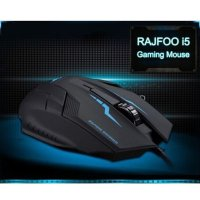 RAJFOO High Performance 6D Optical Wired USB Notebook Game Mice I5 1600 Dpi