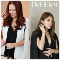 CAPE BLAZER HIGH QUALITY / 2 WARNA / WEDGES SUPER