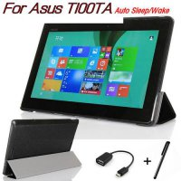 [globalbuy] Luxury Black Stand PU Leather Case for Asus Transformer Book T100 T100TA 10.1 /5517410
