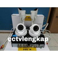 (Kamera CCTV) PAKET CCTV 8CHANNEL 4 CAMERA 2.0 MEGAPIXEL TURBO HD/MURAH