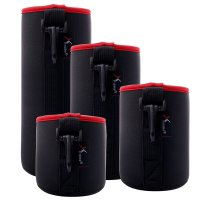 Tempat Lensa Kamera Tahan Air 4pcs, Neoprene Lens Pouch Soft Case For Canon Nikon uk: S M L XL
