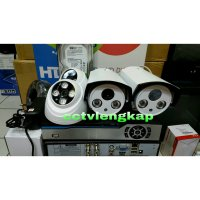 (Kamera CCTV) PAKET CCTV 4CHANNEL AHD 2MP 1080 FULL HD+HDD komplit