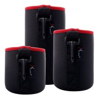 Tempat Lensa Kamera Tahan Air, 3pcs Soft Neoprene Dslr Lens Pouch Waterproof Bag Case S M L -DC505