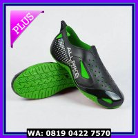(Sale) Sepatu Motor Biker AIR ALL BIKE GREEN Karet pvc ALLBIKE HIJAU
