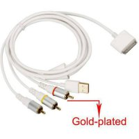 [poledit] JOMOQ High Quality USB charger Composite AV to TV RCA Video Cable for Apple iPho/12676941
