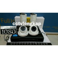 (Kamera CCTV) PAKET CCTV 8CH 4CAMERA REAL 2MEGAPIXEL HD TURBO