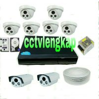 (Kamera CCTV) PAKET CCTV 8CHANNEL 1080 FULL HD +HARRDISK MURAH!!