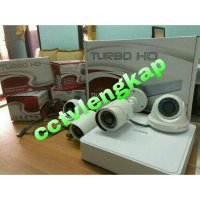 #Kamera CCTV PAKET CCTV 4CHANNEL 1.3MP+HARRDISK LENGKAP