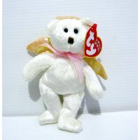 Boneka Teddy Bear Angel Original TY Jingle Beanies Halo