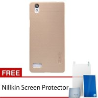 Nillkin Oppo Mirror 5 / A51 Frosted Shield Hard Case - Gold + Free Screen Protector