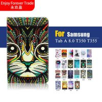 [globalbuy] Case For Samsung Galaxy Tab A 8.0 T350 T351 SM-T355 Painting PU Leather Cute C/4956645