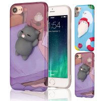 Squishy 3D Cute Animal Seal Soft TPU Gel Case Cover For iPhone 7 4.7 inch